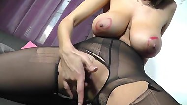 Big Natural Tits Babe Milf In Pantyhose #MrBrain1988
