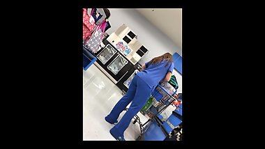 PAWG in scrubs (VPL)