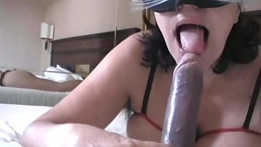 viola sucking a dildo