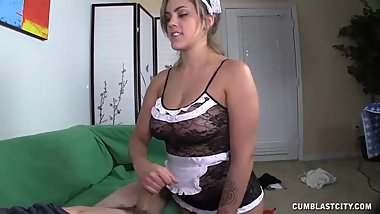 Maid Needs To Get Her Hands On His Dick