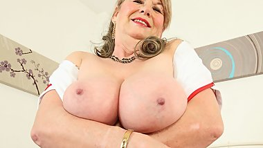 English granny Elle is your naughty nurse tonight