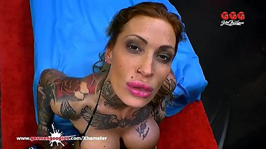 Calisi Ink Busty Tattooed Babe Gangbanged - German Goo Girls