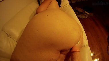 Bubble. Butt Pawg playing with a Dildo