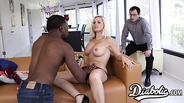 Rich bitch Alena Croft is a cuckold wife that loves big dick