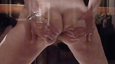 Milf flashing everything, invites me to fuck her in the ass