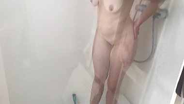 My unaware 36yo wife shower spy cam exposed