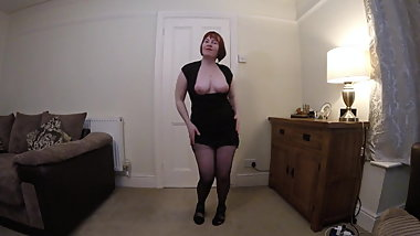 Dress and Hose Striptease